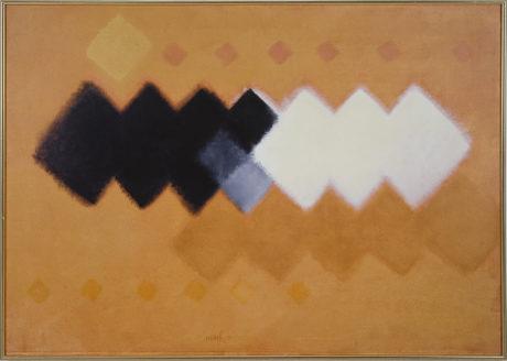 Heinz Mack, Colours of Africa, 2003, Chromatic Constellation, acrylic on canvas, 143 x 202 cm